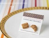 Buttery Croissants - Post Earrings