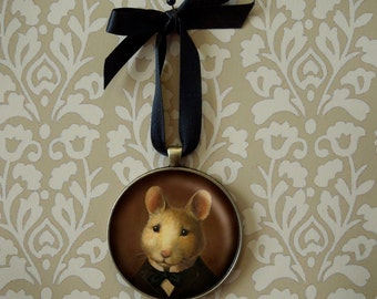 Mouse Ornament - Christmas Ornament - Christmas Mouse - Victorian Mouse - Christmas Deco