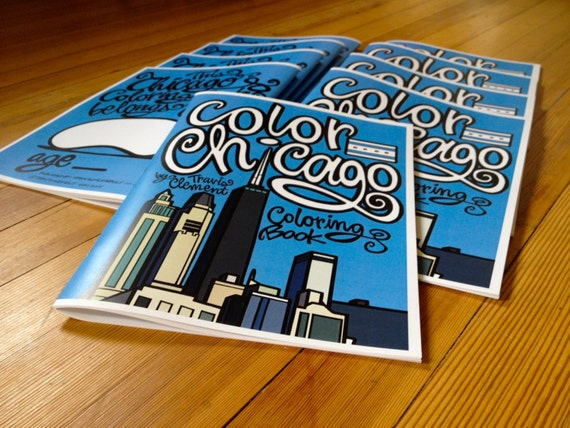 Special Listing for Jan: Chicago Coloring Book, 51 Pages, 26 Illustrations