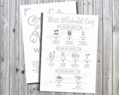 Printable Romantic Wedding Itinerary Timeline with Welcome Letter