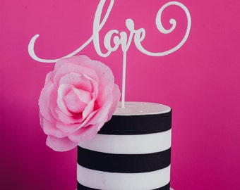 Valentine's Day, Wedding, Love Cake Topper Laser Cut, Acrylic