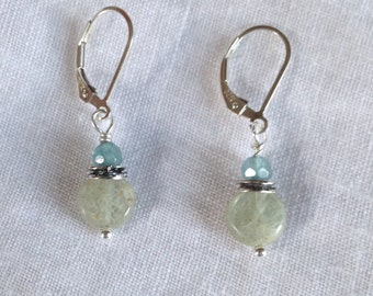 Pale Kyanite and Aquamarine Earrings