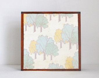 woodland nursery art,  forest tree print, children room, gender neutral baby, forest decor, nursery decor, woodland, redtilestudio