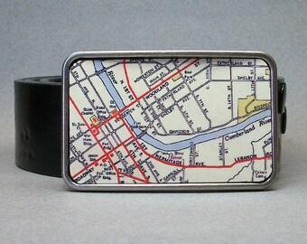 Nashville Tennessee Belt Buckle Vintage Unique Gift Idea for Men or Women