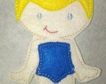Cindy Felt Doll, Non Paper Doll