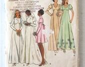 1970s Wedding Dress Pattern, Butterick 6958, Womens Leg O Mutton Sleeves Evening Maxi Dress Pattern Train Modest Dress Size 10 Bust 32.5