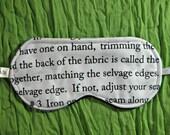 Sleep Mask, Sewing Instructions