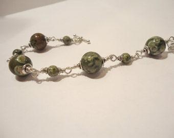 Rhyolite Wire Wrapped Bracelet