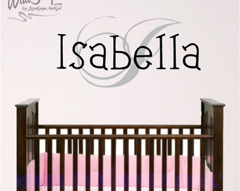 Personalized Monogram Wall Decal, Girl or Boy room wall decal