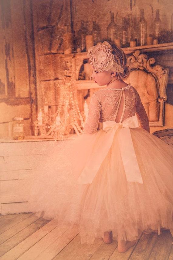 Champagne Lace Tutu Dress