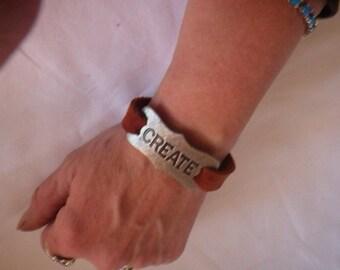 CREATE...Handmade Leather Snap Bracelet
