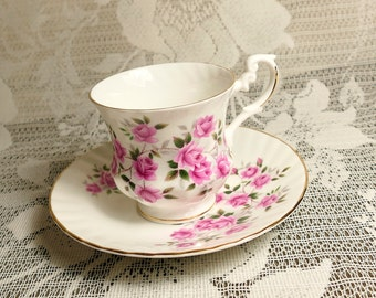 Royal Dover Rose Cup and Saucer