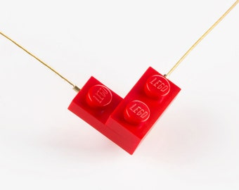 Lego Necklace, Red Heart Necklace, Lego Heart Necklace, Valentines Day Gift, Lego Bricks, Lego  Jewelry, Necklace For Girlfriend, Lego Gifts