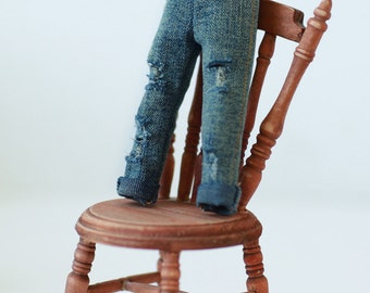 Miss yo 2015 Summer & Autumn - Distressed Jeans Pants for Blythe / JerryBerry doll - dress / outfit