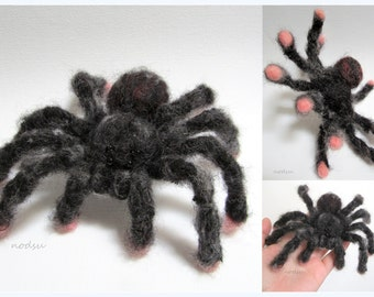 Custom miniature needle felted pet, soft sculpture - spider, ferret, bird tarantula moth replica meme MADE TO ORDER, customized felt animal