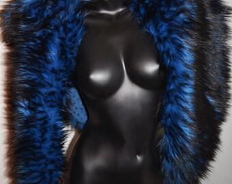 Faux Fur Cape with stylish chain closure