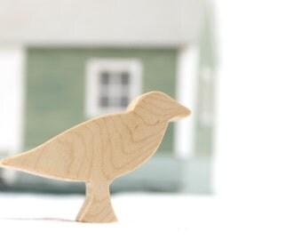 Wooden Bird Toy Seagull, seaside animal, wood bird, wooden animal toy, kids toys, kid wooden toy, wooden toy for kids, wood bird toy