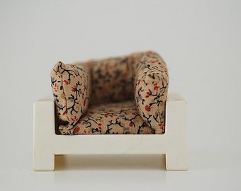 1960's Doll House Furniture, Christmas Gift For Daughter, Retro Plastic Doll House Arm Chair, Mid Century Modern Doll House Furniture,