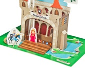 Medieval Castle Paper Theater - DIY Paper Craft Kit - Puppets - Paper Toy - 3D Model Paper Figure