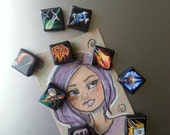 11 World of warcraft Class icon Set made with polymer clay