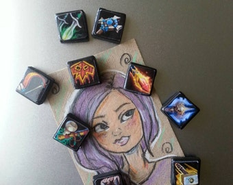 World of warcraft Magnets class icons- WOW magnets