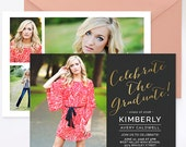 SALE Senior Announcement Template Girls Guys, Senior Graduation Announcement Templates, Senior Templates, Photography Templates - GD145