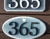 GARDENmarx sculptured edge address signs