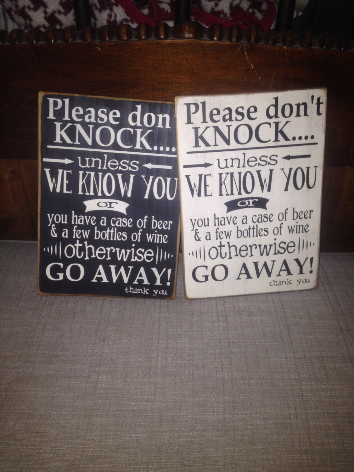 Don't Knock Sign Please Go Away Sign No Soliciting