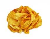 ochra silk scarf - Honey - ochra, yellow, golden yellow silk scarf