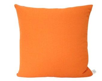 Outdoor Tangerine Orange Pillow Cover in Sunbrella Fabric