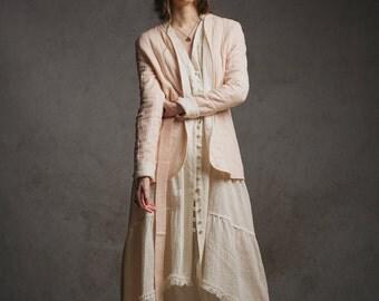 Rose Quilted Jacket,Boho jacket,Wedding jacket,Lightweight jacket,Summer jacket,Bohemian wedding clothes,Festival clothes,Rose jacket