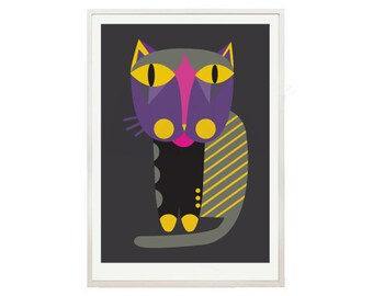 Cat print poster 14 Cat shop - art print by nicemiceforyou