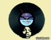 Nina Simone jazz soul wall clock from vinyl record afro unique