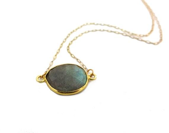 Labradorite Pendant Necklace, Labradorite Necklace, Labradorite Jewelry, Layering Necklace