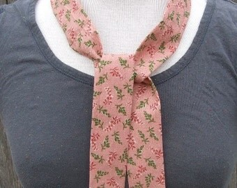 Neck cooler - heat relief polymer fill tie - reusable sports therapeutic wrap - cooling scarf neckband - first aid wrap - pink green flowers