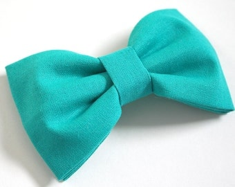 Teal Hair Bow - Teal Bow Tie - Teal Bows - Turquoise Hair Bow - Turquoise Bow Tie