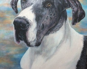 Custom Portrait Pet Painting in acrylic