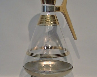 Vintage Inland Empress Carafe And Warming Stand