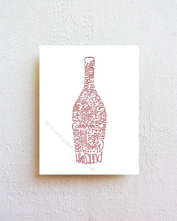 Wine Bottle Wall Art Wine Bottle Art Kitchen Art