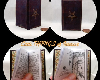 NOVEM PORTIS, The Ninth Gate Illustrated Book in 1:3 Scale Readable Book 18 inch AG Doll 1/3 Scale