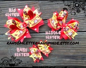 Curious George Bows for Sister Hair Bow Set Small Medium Large Hair Clips Curious George Birthday Dress Party Decorations