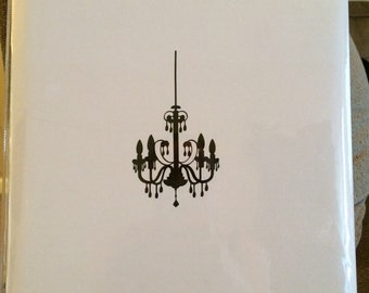 Chandelier Decal Make Your Own Breakfast At Tiffany's Wedding or Shower Accessories and Decor
