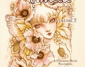 Fantasy Art Coloring Book with 20 Images - Gardens & Goddesses Volume 2 - Advanced Coloring Book for Grownups - Art by Mitzi Sato-Wiuff