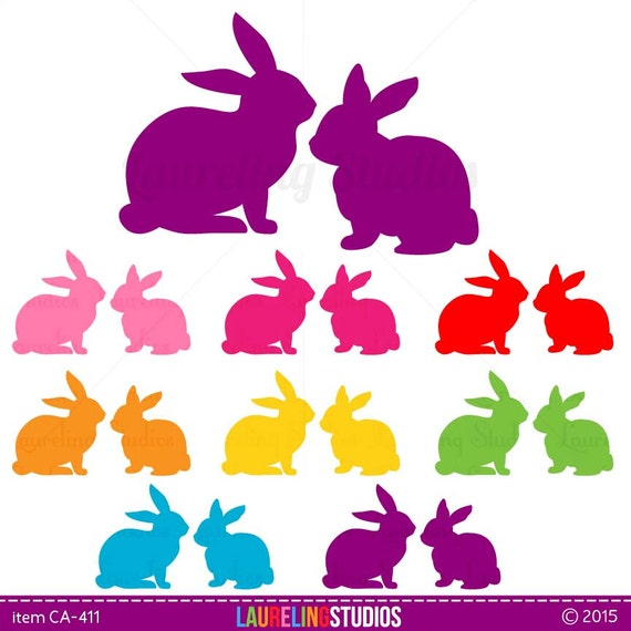 clipart image easter bunny silhouette - photo #42
