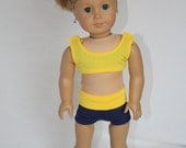 """American Girl 18"""" Doll Cheerleader Outfit - Gold and Navy"""