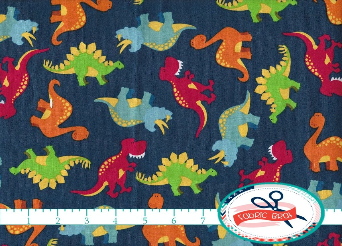 dinosaur fabric by the yard fat quarter dino fabric by