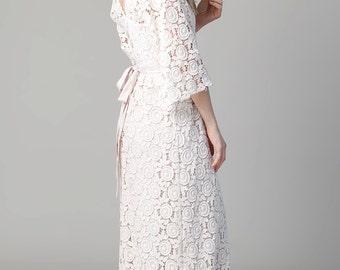 Bohemian Wedding Dress Petal Gown