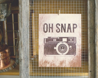 Oh Snap Vintage Photography Print - 8 x 10