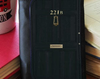 SHERLOCK  221b Full Door  Faux Leather Wallet ... & Sherlock door   Etsy pezcame.com