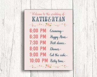 Reception timeline | Etsy